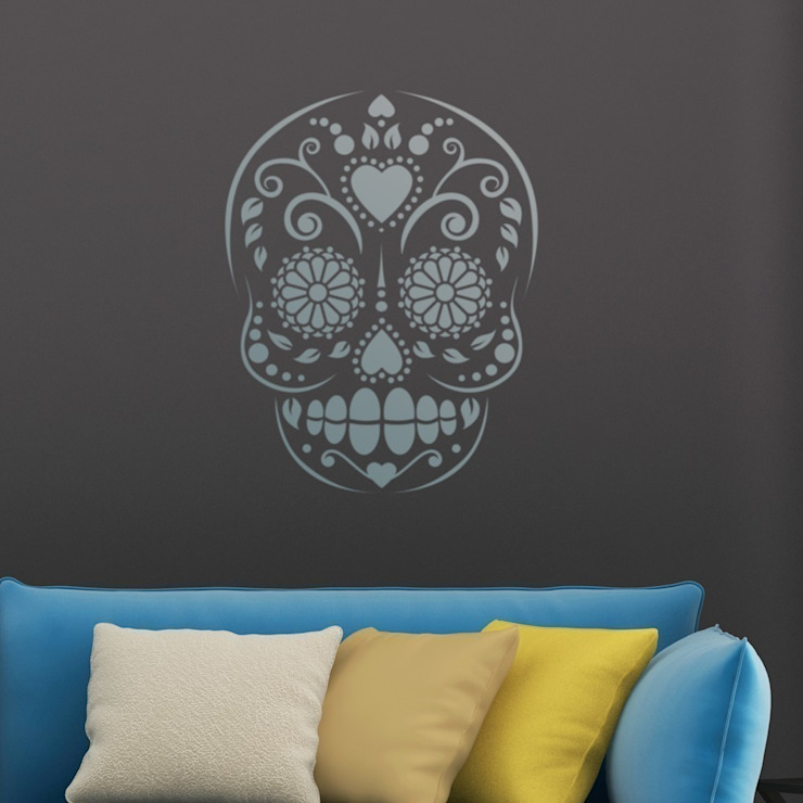 Candy Skull Repeat di Stencil Up Moderno