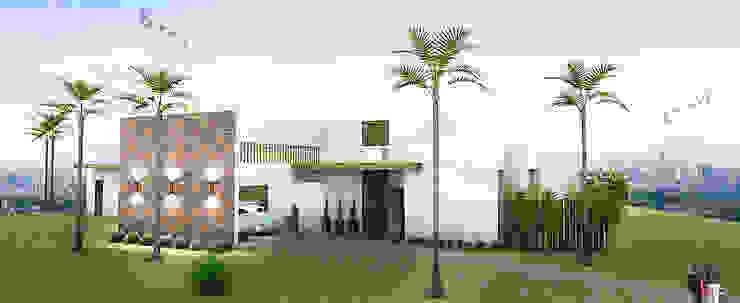 Rumah Modern Oleh JERAU Projetos Sustentáveis Modern Batu Bata