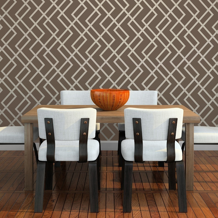 Geometric & Retro wall stencils de Stencil Up Moderno