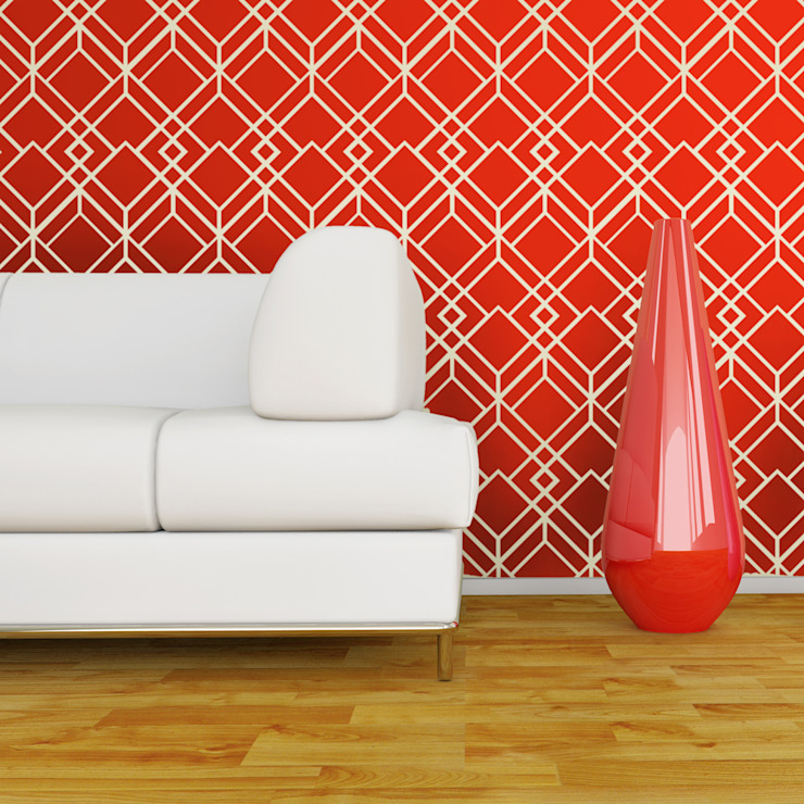 Geometric & Retro wall stencils: modern  by Stencil Up, Modern