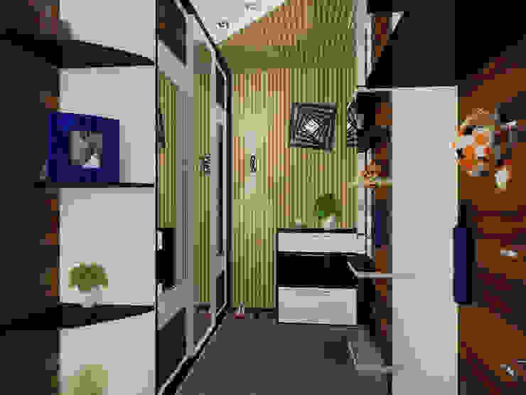 Студия (входная зона) Коридор, прихожая и лестница в эклектичном стиле от ПРОЕКТНАЯ СТУДИЯ Ирины Щуровой ДОМ Эклектичный