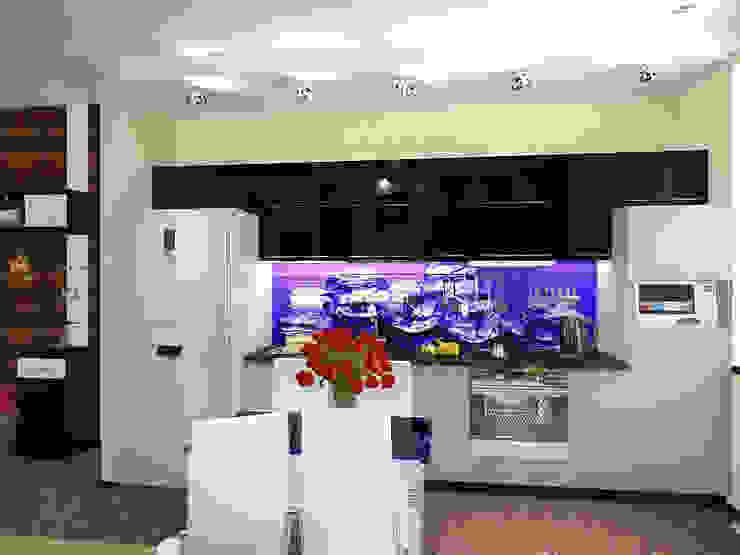 Студия Кухни в эклектичном стиле от ПРОЕКТНАЯ СТУДИЯ Ирины Щуровой ДОМ Эклектичный