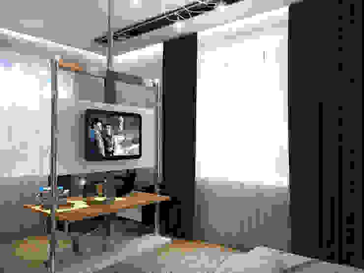 Спальня - Вариант 1 Спальня в эклектичном стиле от ПРОЕКТНАЯ СТУДИЯ Ирины Щуровой ДОМ Эклектичный
