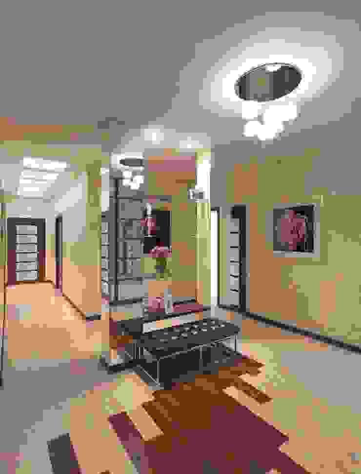 Дизайн интерьера прихожей квартиры в м-он Чистый. Коридор, прихожая и лестница в модерн стиле от Студия Поминовой Анны Модерн