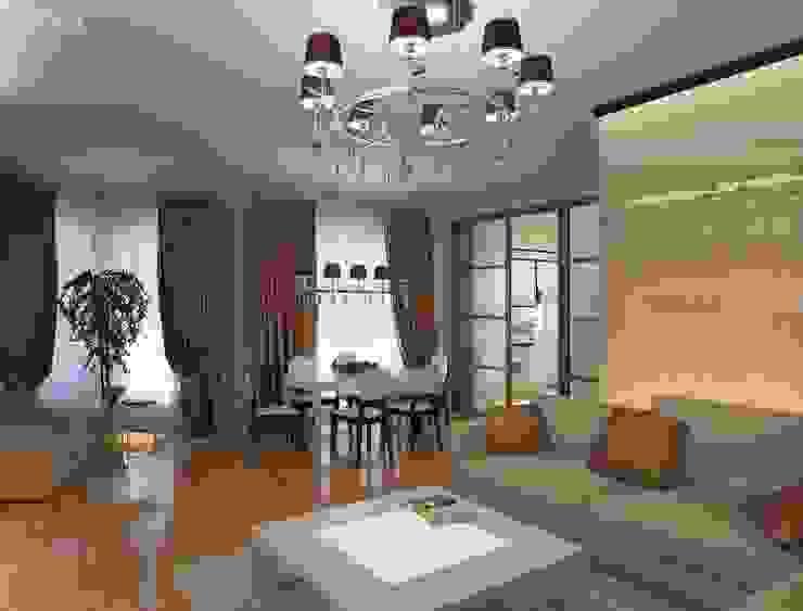 Дизайн интерьера гостиной квартиры в м-он Чистый. Гостиная в стиле модерн от Студия Поминовой Анны Модерн