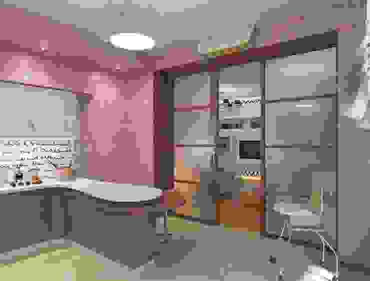 Дизайн интерьера кухни квартиры в м-он Чистый. Кухня в стиле модерн от Студия Поминовой Анны Модерн