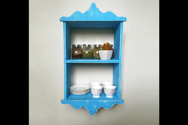 Mavi Mutfak Rafı Pons Home Design Klasik