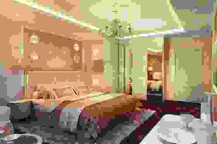 غرفة نوم تنفيذ Студия Поминовой Анны