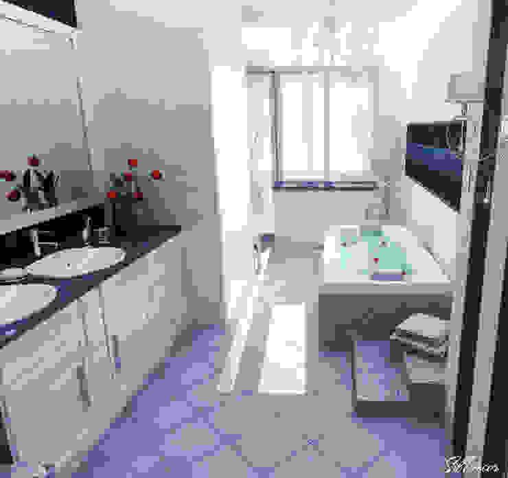 Дизайн интерьера ванной комнаты квартиры в м-он Чистый. Ванная комната в стиле модерн от Студия Поминовой Анны Модерн