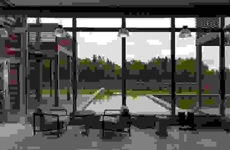Salas de estar ecléticas por LOFTING Eclético