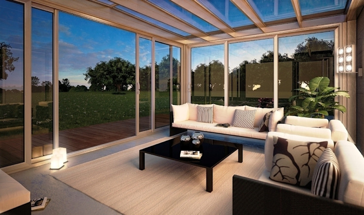 Sliding patio doors to closure On Winter Garden Minimalist conservatory by homify Minimalist