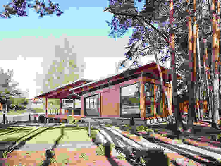 스칸디나비아 주택 by NEWOOD - Современные деревянные дома 북유럽