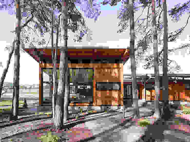 Casas de estilo escandinavo de NEWOOD - Современные деревянные дома Escandinavo