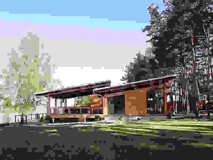 根據 NEWOOD - Современные деревянные дома 北歐風