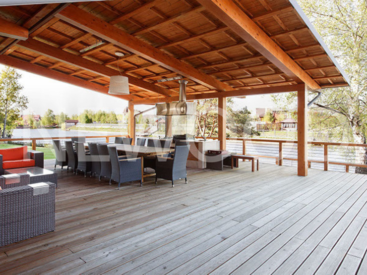 NEWOOD - Современные деревянные дома Scandinavian style balcony, porch & terrace
