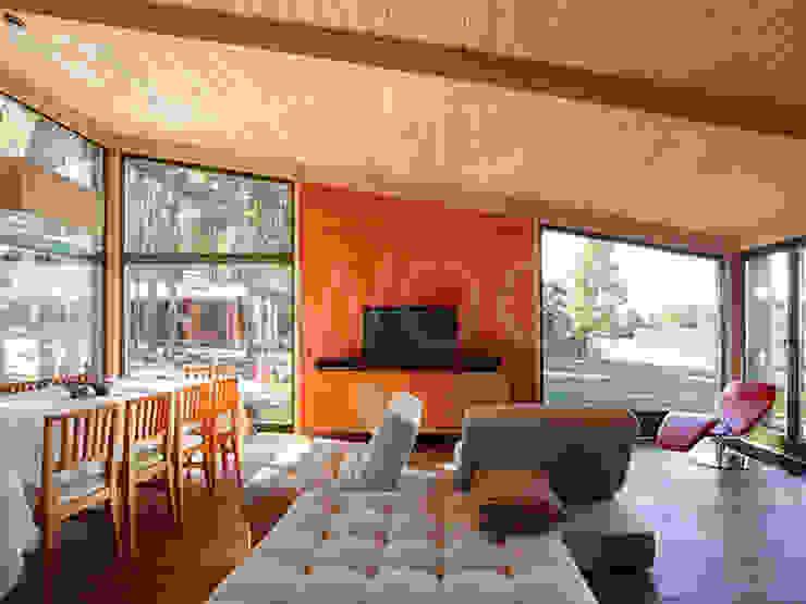 Скандинавия 150 Гостиная в скандинавском стиле от NEWOOD - Современные деревянные дома Скандинавский
