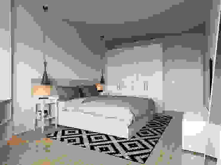 Projekty,  Sypialnia zaprojektowane przez Kristina Petraitis Design House, Skandynawski