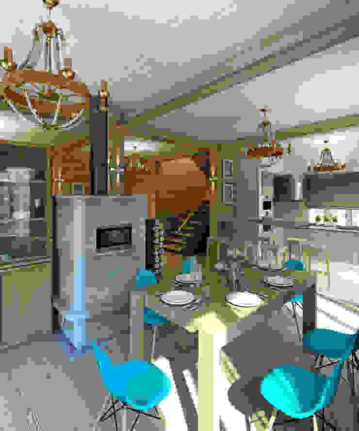 Деревянный дом в Рождественно Кухня в скандинавском стиле от BM Architects Скандинавский
