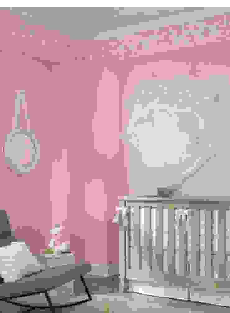 Diseno Papel Tapiz Dormitorios infantiles modernos de Crea Decoración Moderno