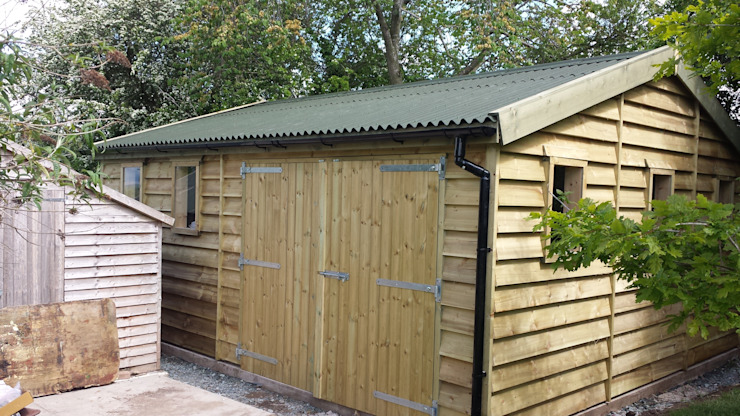20 x 16 gargae Garage / Hangar coloniaux par Regency Timber Buildings LTD Colonial