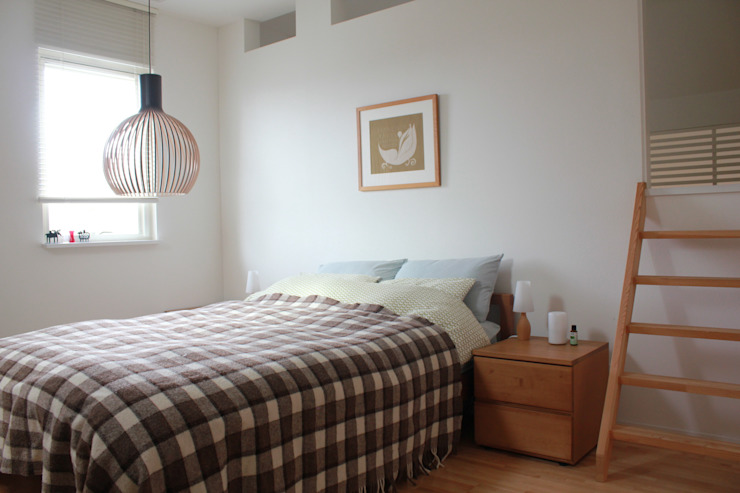 iie design モデルハウス: 一級建築士事務所 iie designが手掛けた寝室です。,北欧