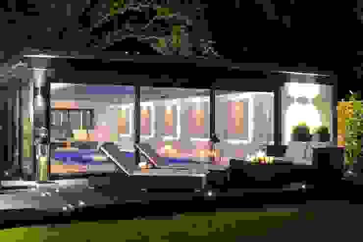 Pool House Leighton Home Style Modern style gardens