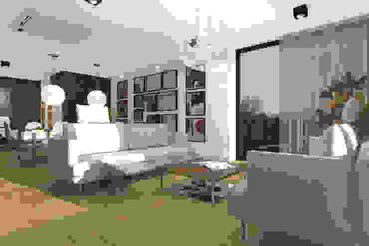 Apartament MR-Jap – <q>CEGIELNIANA</q> Rybnik Nowoczesny salon od ABC Pracownia Projektowa Bożena Nosiła Nowoczesny