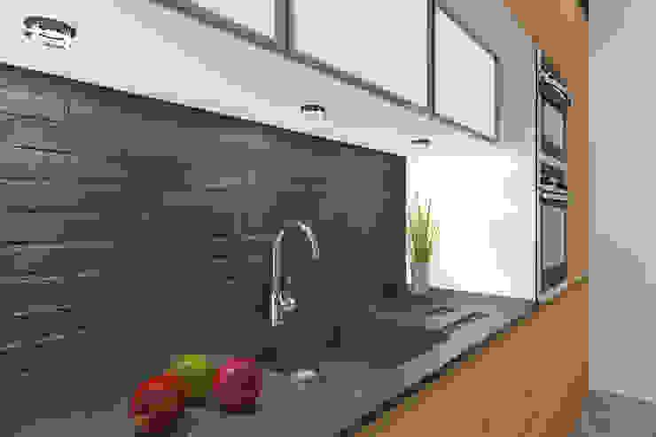 Apartament MR-Jap – <q>CEGIELNIANA</q> Rybnik Nowoczesna kuchnia od ABC Pracownia Projektowa Bożena Nosiła Nowoczesny