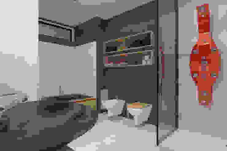 Apartament MR-Jap – <q>CEGIELNIANA</q> Rybnik Nowoczesna łazienka od ABC Pracownia Projektowa Bożena Nosiła Nowoczesny