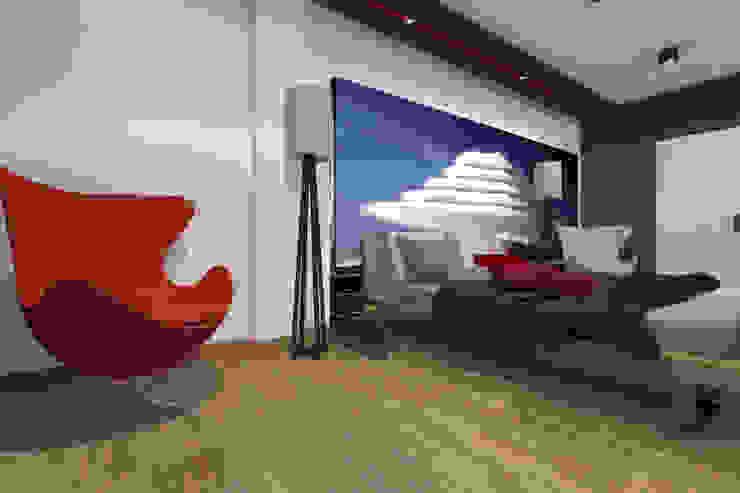 Apartament MR-Jap – <q>CEGIELNIANA</q> Rybnik Nowoczesna sypialnia od ABC Pracownia Projektowa Bożena Nosiła Nowoczesny