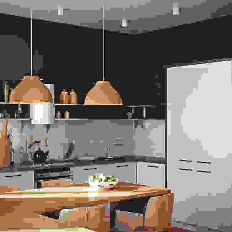 дизайн квартиры 65м2 г. Санкт-Петербур Кухня в скандинавском стиле от sreda Скандинавский