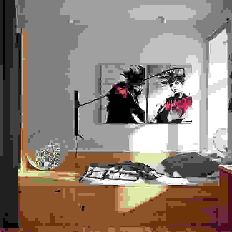 дизайн квартиры 65м2 г. Санкт-Петербур Спальня в скандинавском стиле от sreda Скандинавский