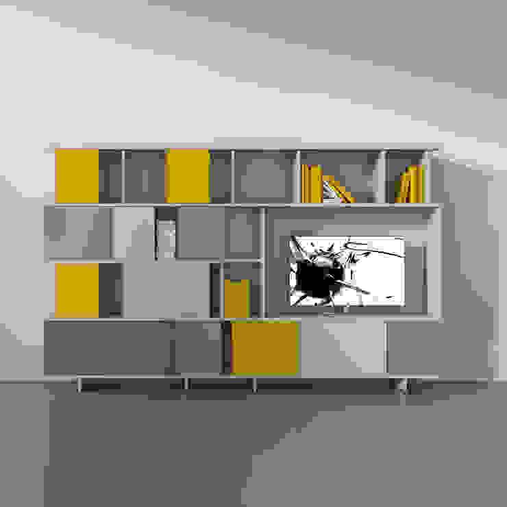 'Ziggurat' TV unit/bookcase by Orme por My Italian Living Moderno