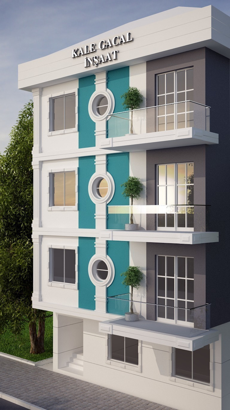 Balcones y terrazas mediterráneos de EMG Mimarlik Muhendislik Proje Çanakkale 0 286 222 01 77 Mediterráneo