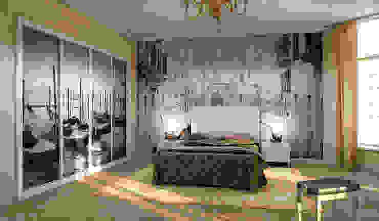 Dormitorio infantil con armario de puertas correderas en color haya y personalizado textil. AstiDkora DormitoriosArmarios y cómodas