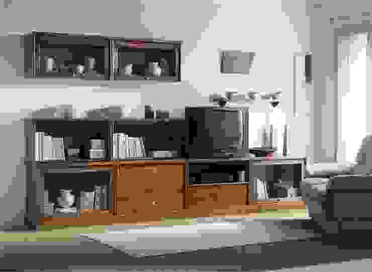 Sala de estar. Eme de Madera EstudioAlmacenamiento