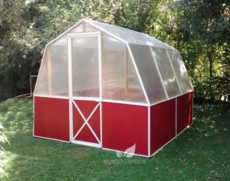 Mundo Garden Garden Greenhouses & pavilions Wood Red