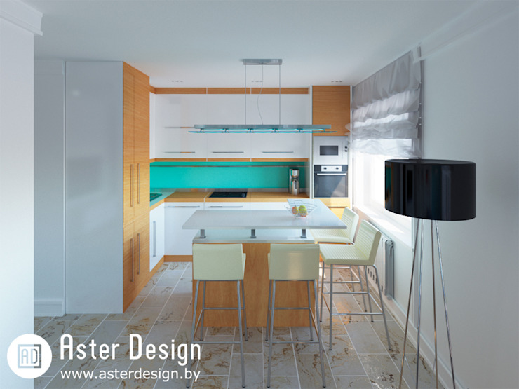 Eclectic style kitchen by ASTER DECO Eclectic