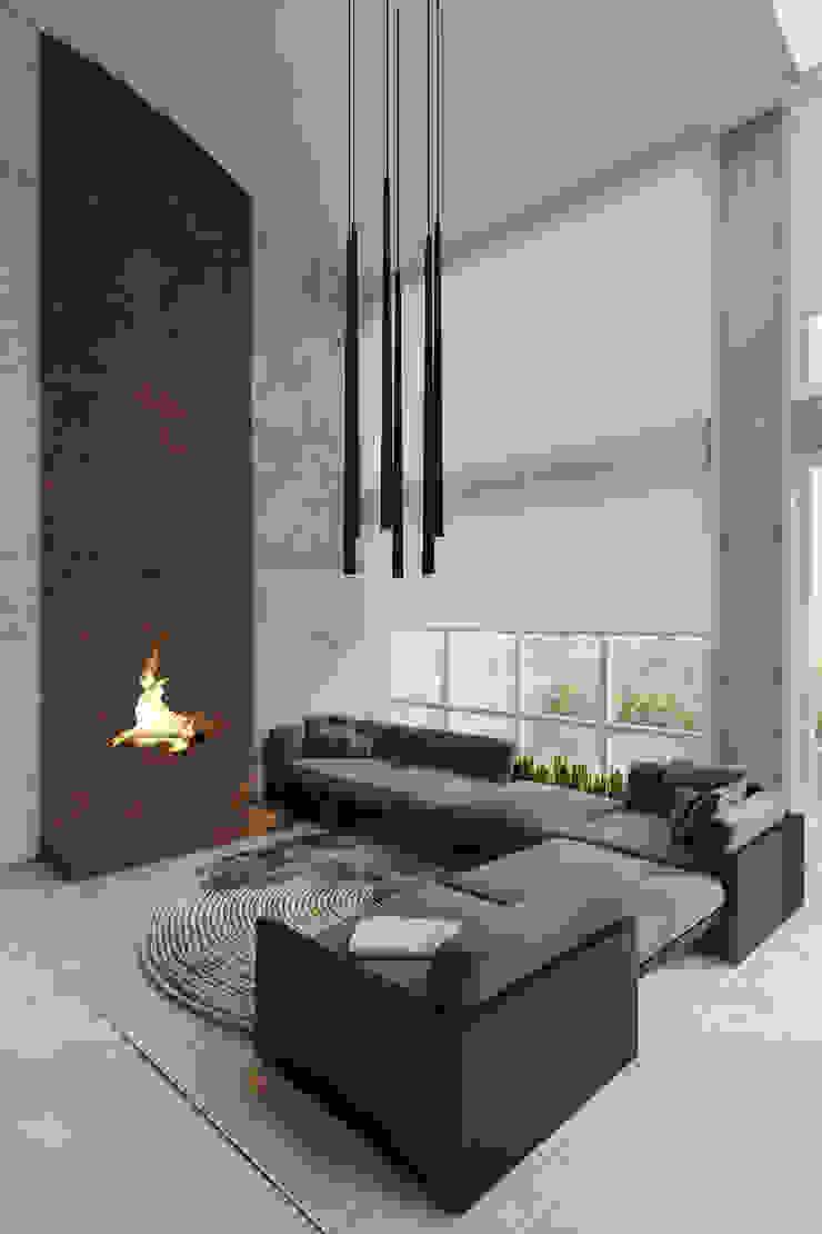 Пентхаус для скульптора Гостиная в стиле лофт от Anton Medvedev Interiors Лофт
