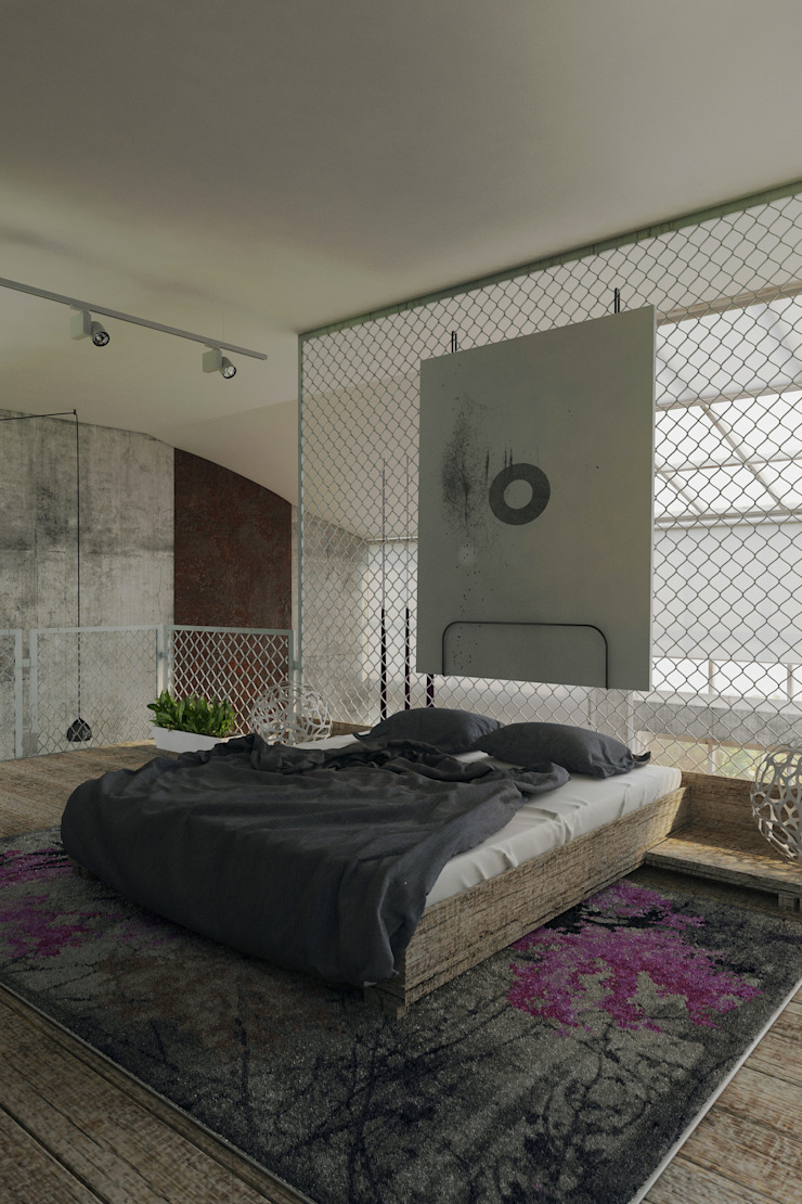 Пентхаус для скульптора Спальня в стиле лофт от Anton Medvedev Interiors Лофт