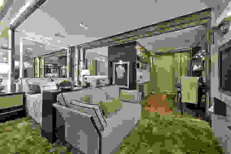 Livings de estilo moderno de Riskalla & Mueller Arquitetura e Interiores Moderno
