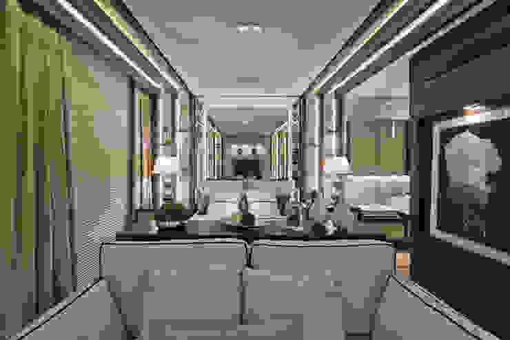 Loft de 30m² Quartos modernos por Riskalla & Mueller Arquitetura e Interiores Moderno