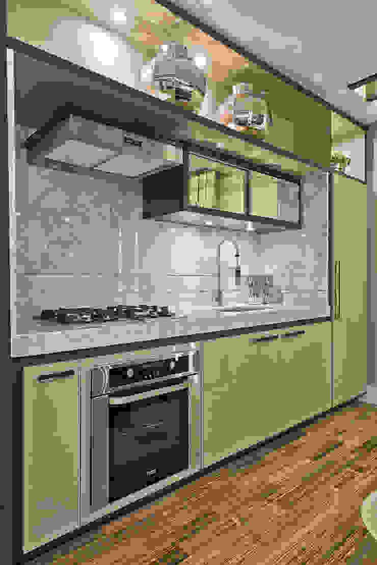 Loft de 30m² Cozinhas modernas por Riskalla & Mueller Arquitetura e Interiores Moderno