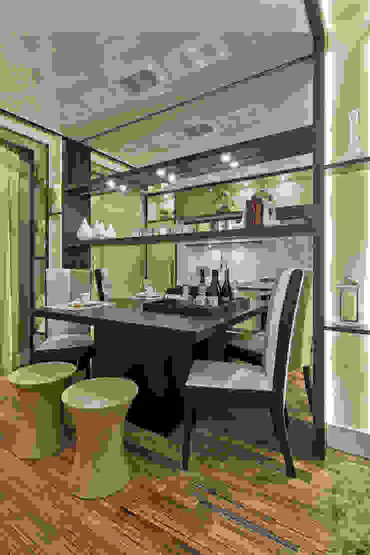 Loft de 30m² Salas de jantar modernas por Riskalla & Mueller Arquitetura e Interiores Moderno