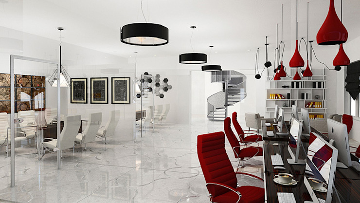 Espaces de bureaux minimalistes par Space - студия дизайна интерьера премиум класса Minimaliste