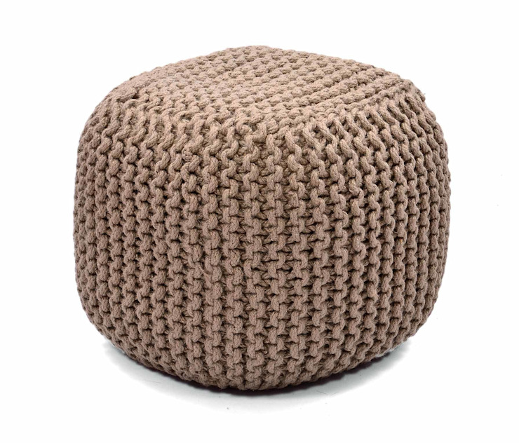 Natural Fibres Knitted Poufs: asian  by Natural Fibres Export,Asian