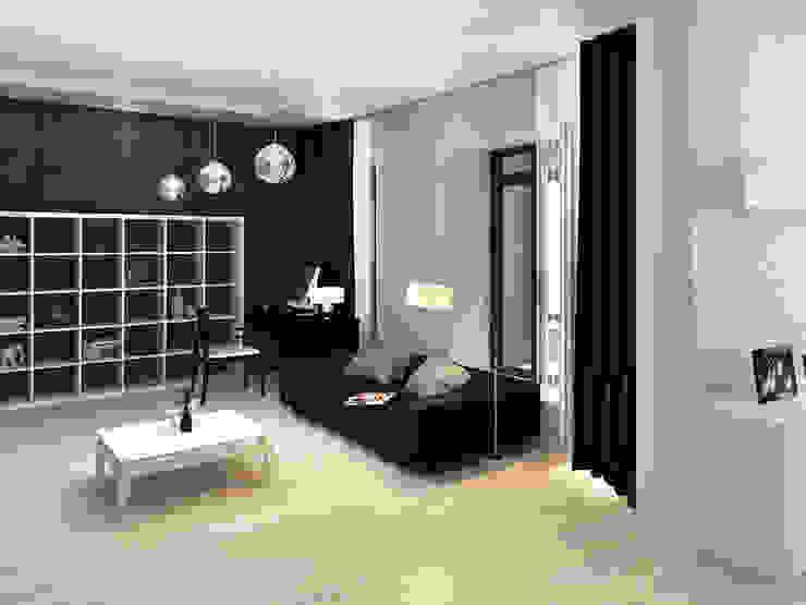 Дизайн гостиной загородного дома в стиле минимализм Гостиная в стиле минимализм от Space - студия дизайна интерьера премиум класса Минимализм