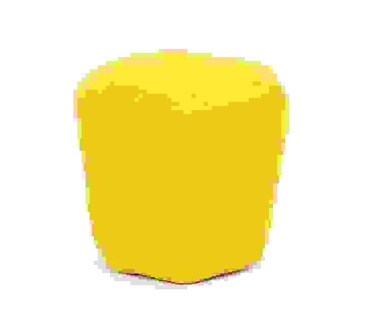 Yellow Cotton Poufs: modern  by Natural Fibres Export,Modern