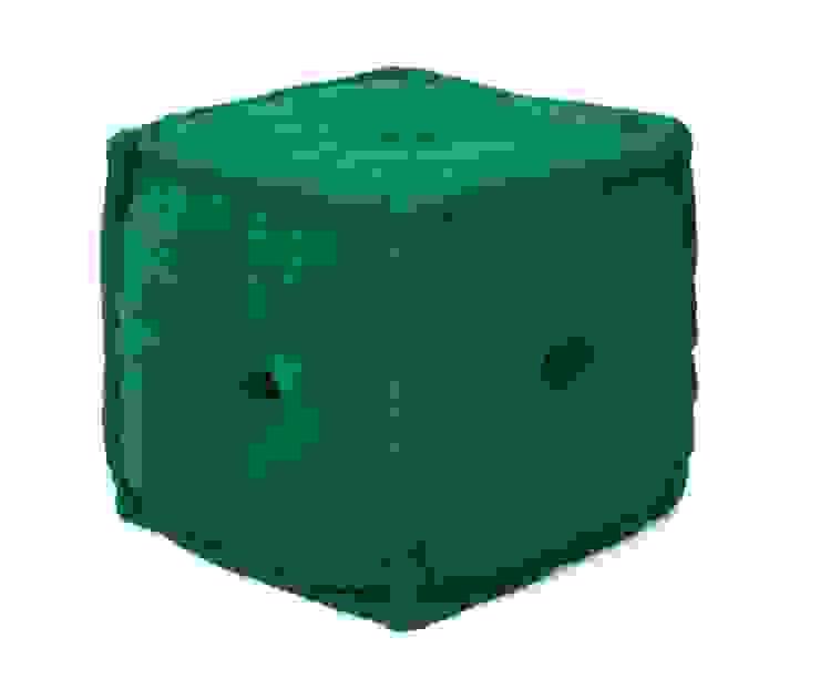 Green Cotton Pouf: modern  by Natural Fibres Export,Modern