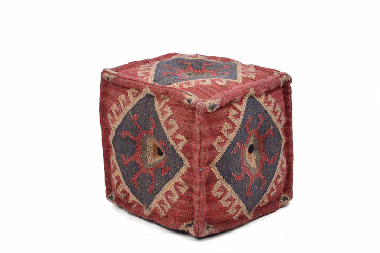 Kilim Poufs Rustic style bedroom by Natural Fibres Export Rustic